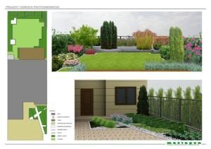 Ogród przy zabudowie szeregowej